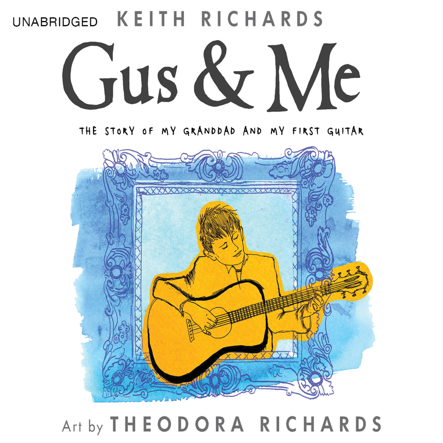 Printable Gus & Me: The Story of My Granddad and My First Guitar Audiobook Cover Art