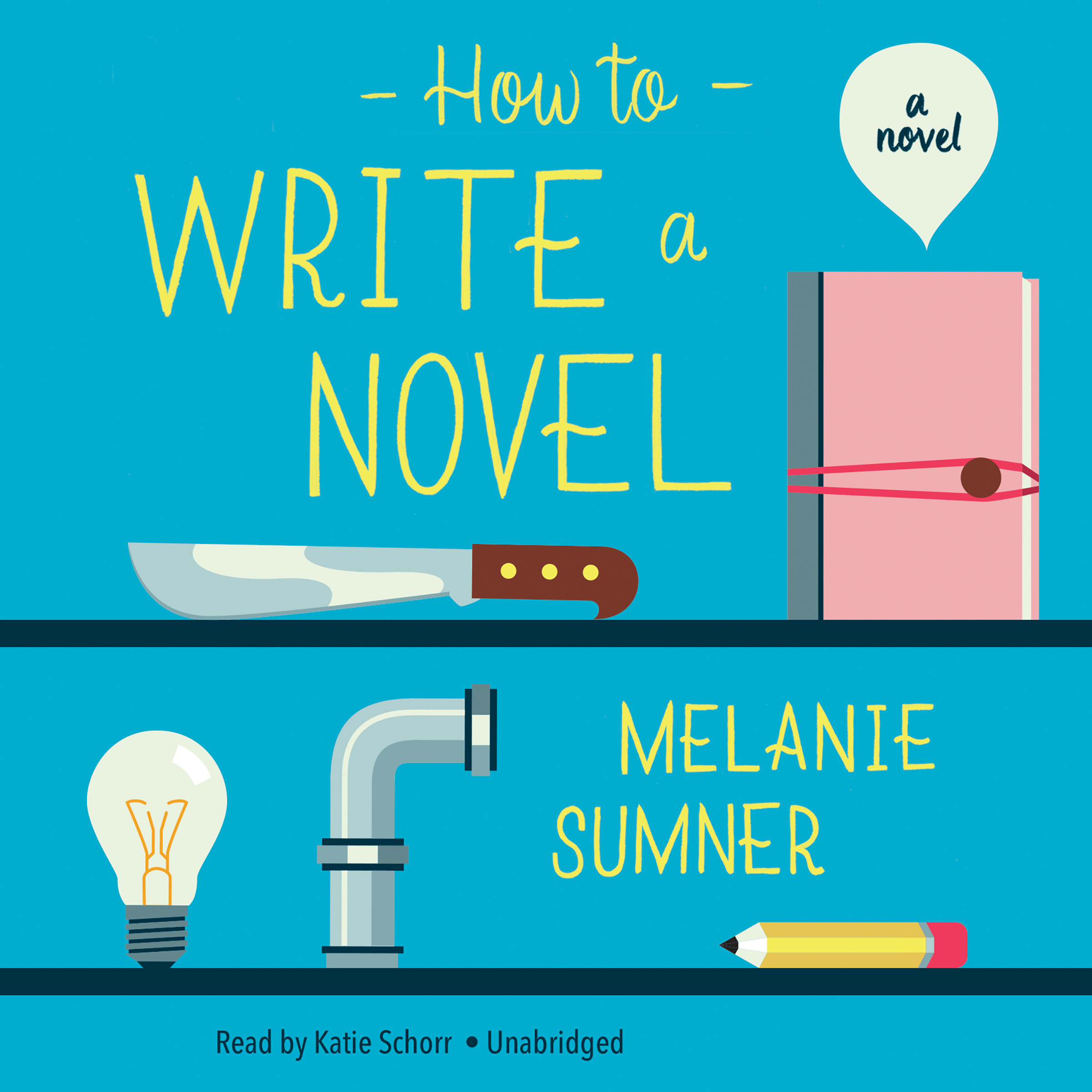 Printable How to Write a Novel: A Novel Audiobook Cover Art
