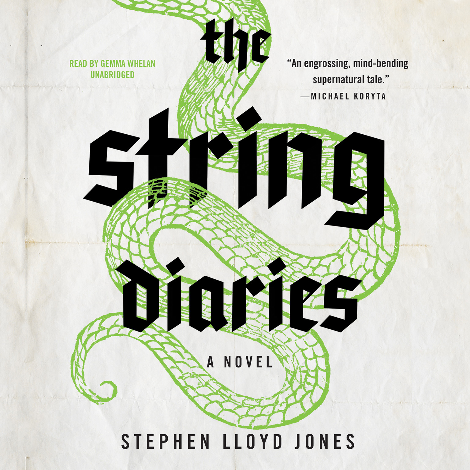 Printable The String Diaries Audiobook Cover Art