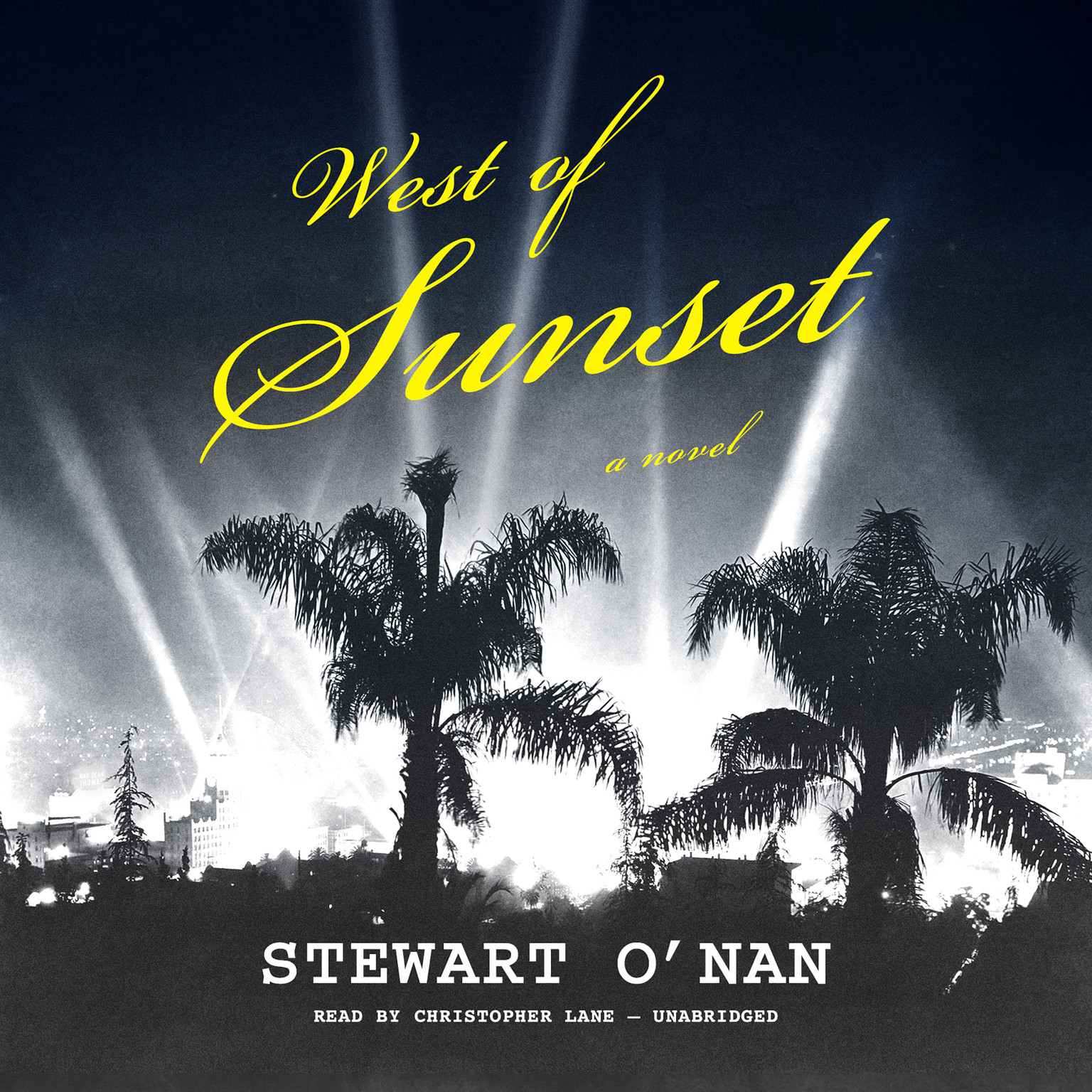 Printable West of Sunset: A Novel Audiobook Cover Art