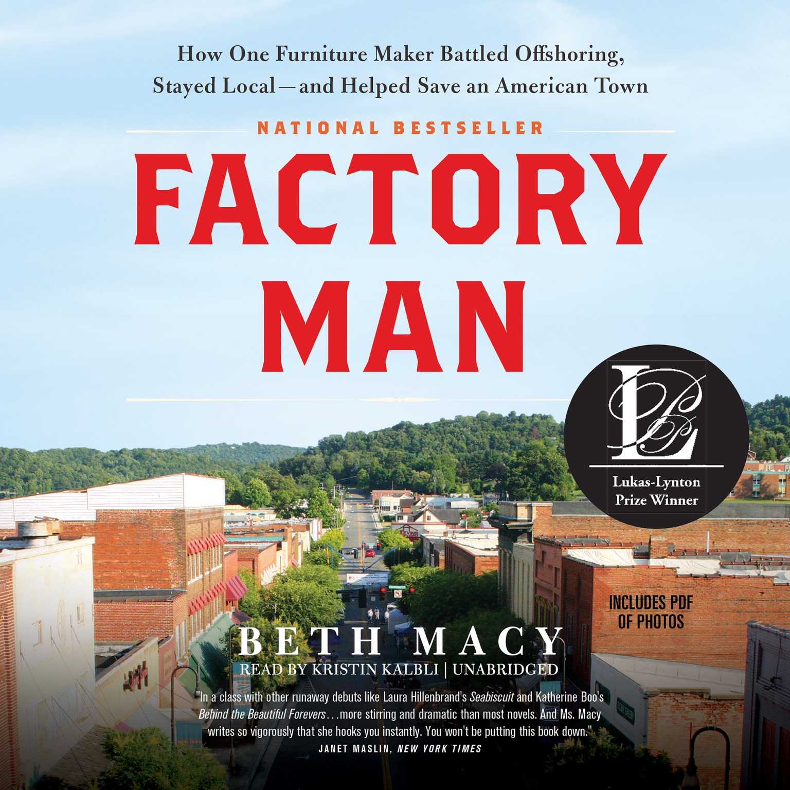 Printable Factory Man: How One Furniture Maker Battled Offshoring, Stayed Local—and Helped Save an American Town Audiobook Cover Art