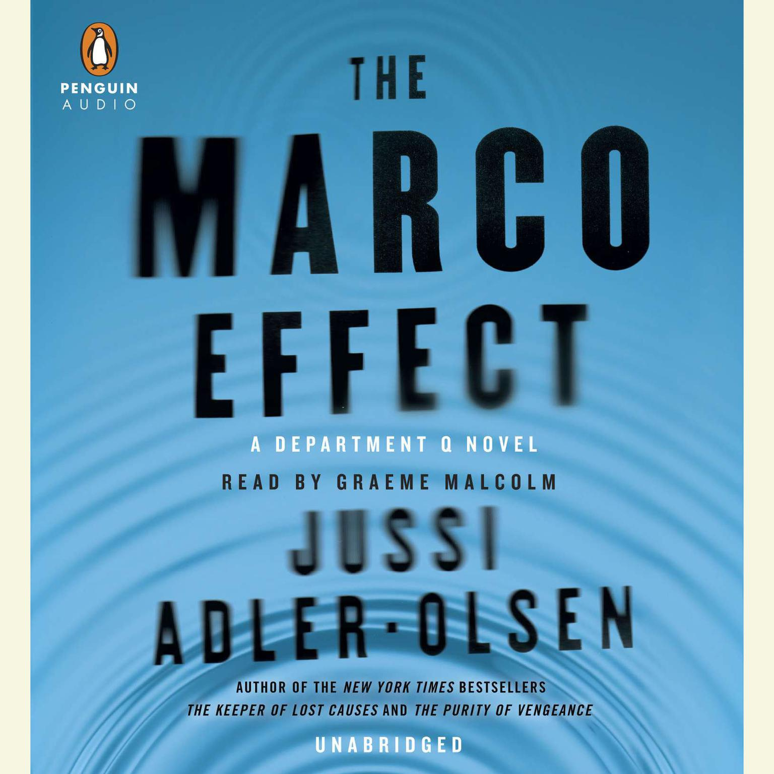 Printable The Marco Effect: A Department Q Novel Audiobook Cover Art