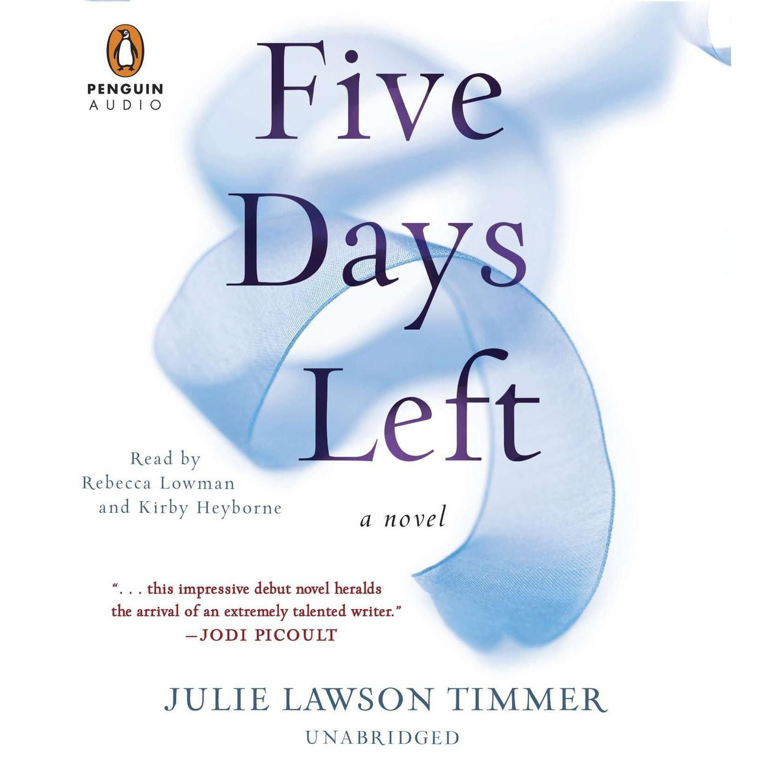 Printable Five Days Left Audiobook Cover Art