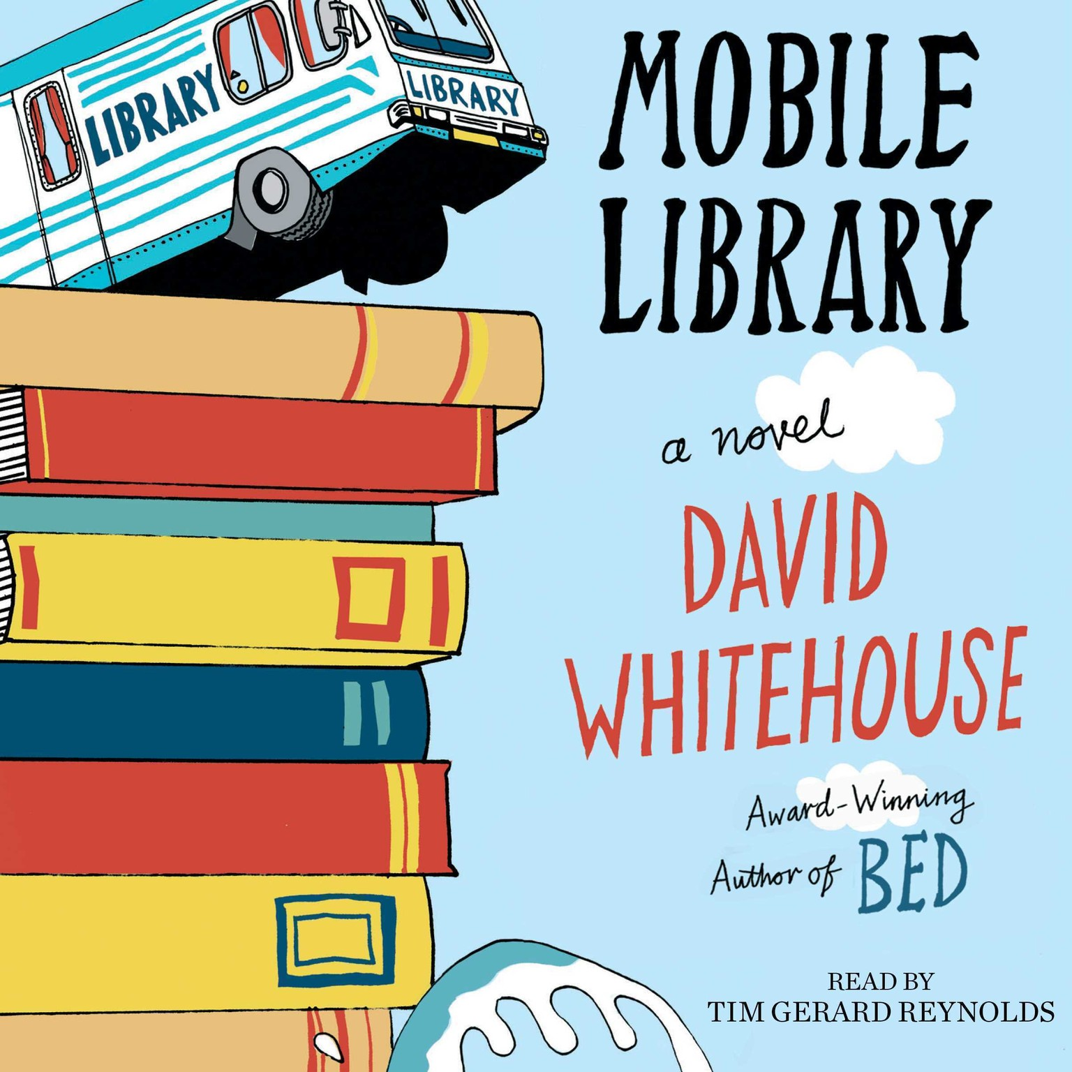 Printable Mobile Library: A Novel Audiobook Cover Art