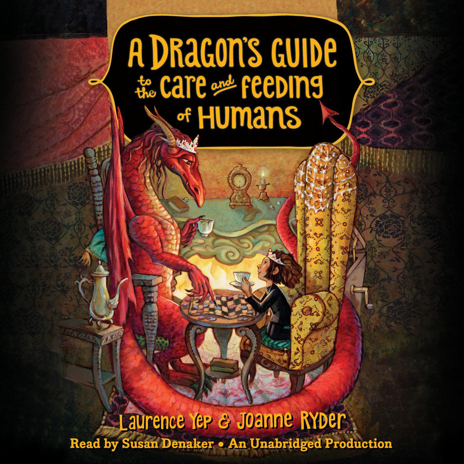 Printable A Dragon's Guide to the Care and Feeding of Humans Audiobook Cover Art