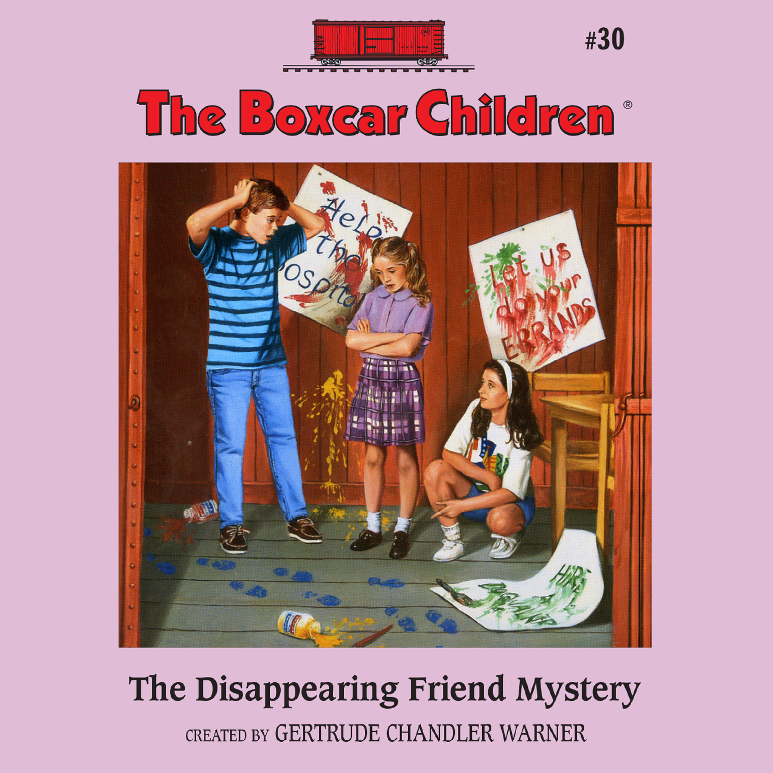 Printable The Disappearing Friend Mystery Audiobook Cover Art