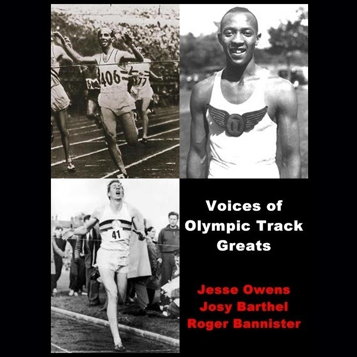 Printable Voices of Olympic Track Greats Audiobook Cover Art