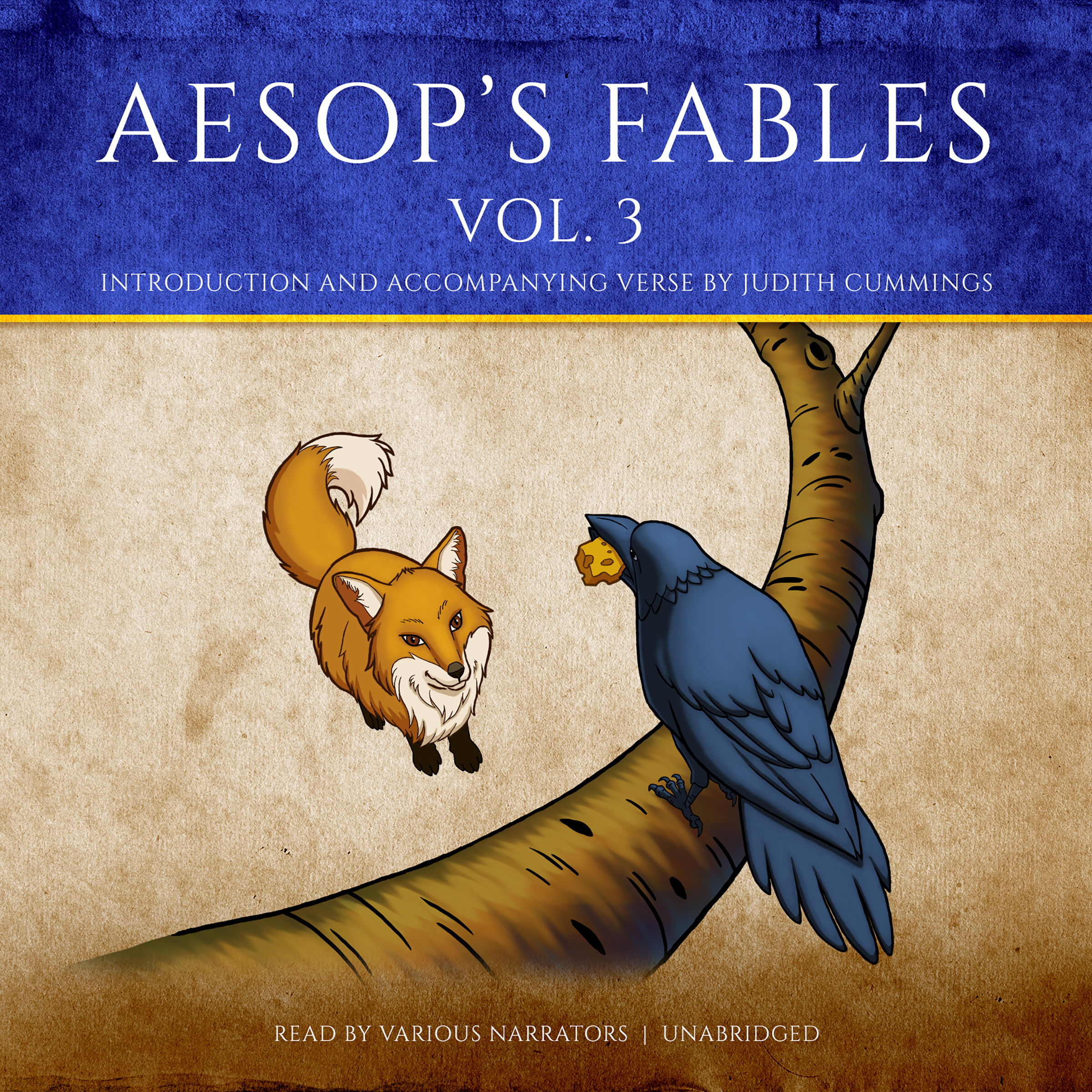 Printable Aesop's Fables, Vol. 3 Audiobook Cover Art