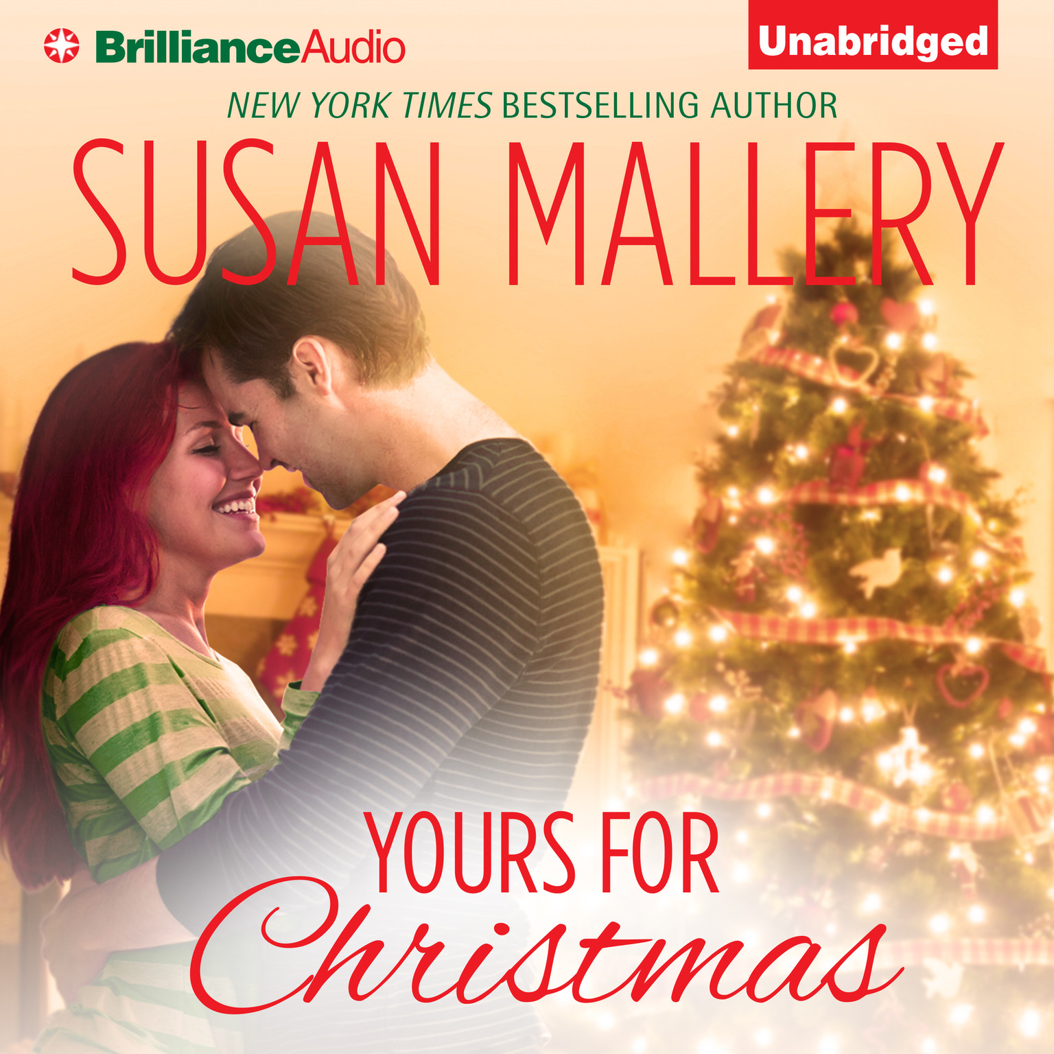 Printable Yours for Christmas Audiobook Cover Art