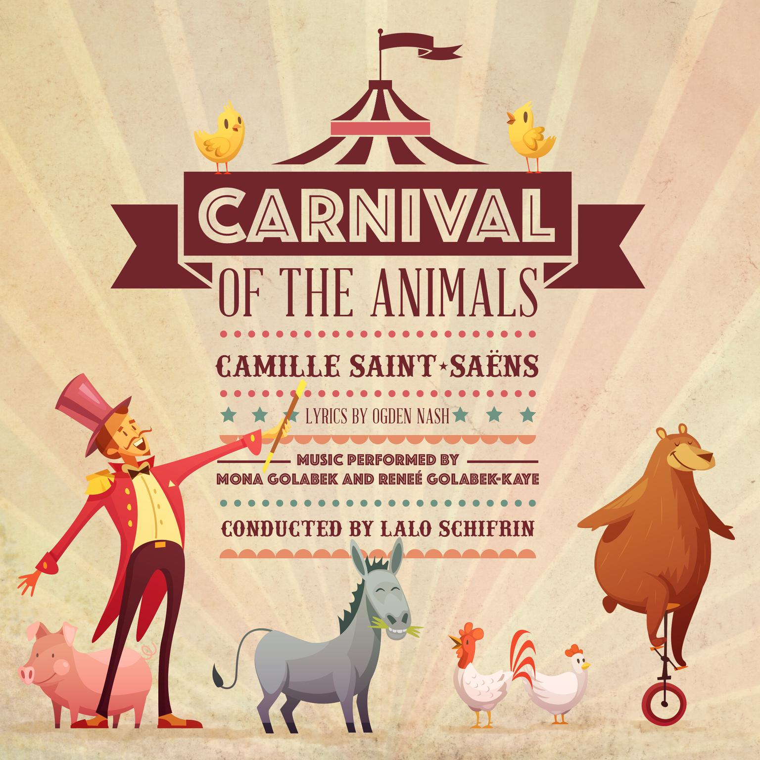 Printable Carnival of the Animals Audiobook Cover Art