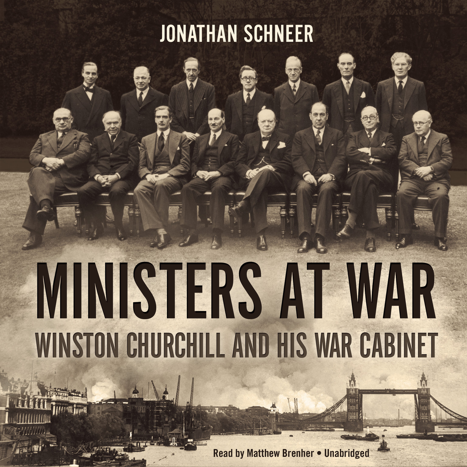 Printable Ministers at War: Winston Churchill and His War Cabinet Audiobook Cover Art