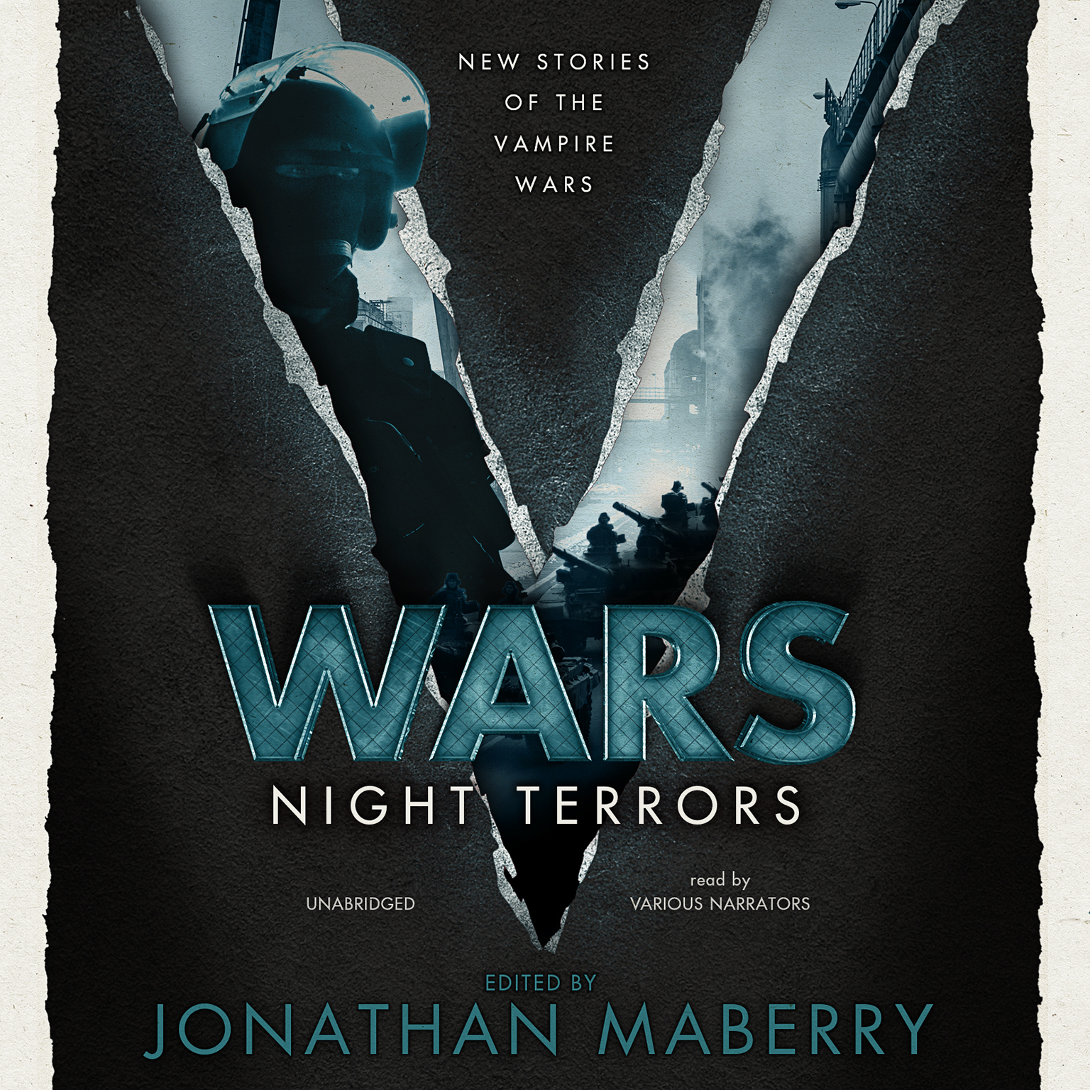 Printable V Wars: Night Terrors: New Stories of the Vampire Wars Audiobook Cover Art