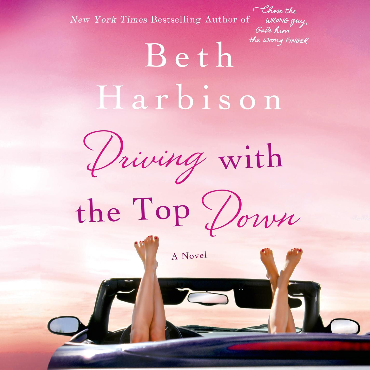 Printable Driving with the Top Down: A Novel Audiobook Cover Art