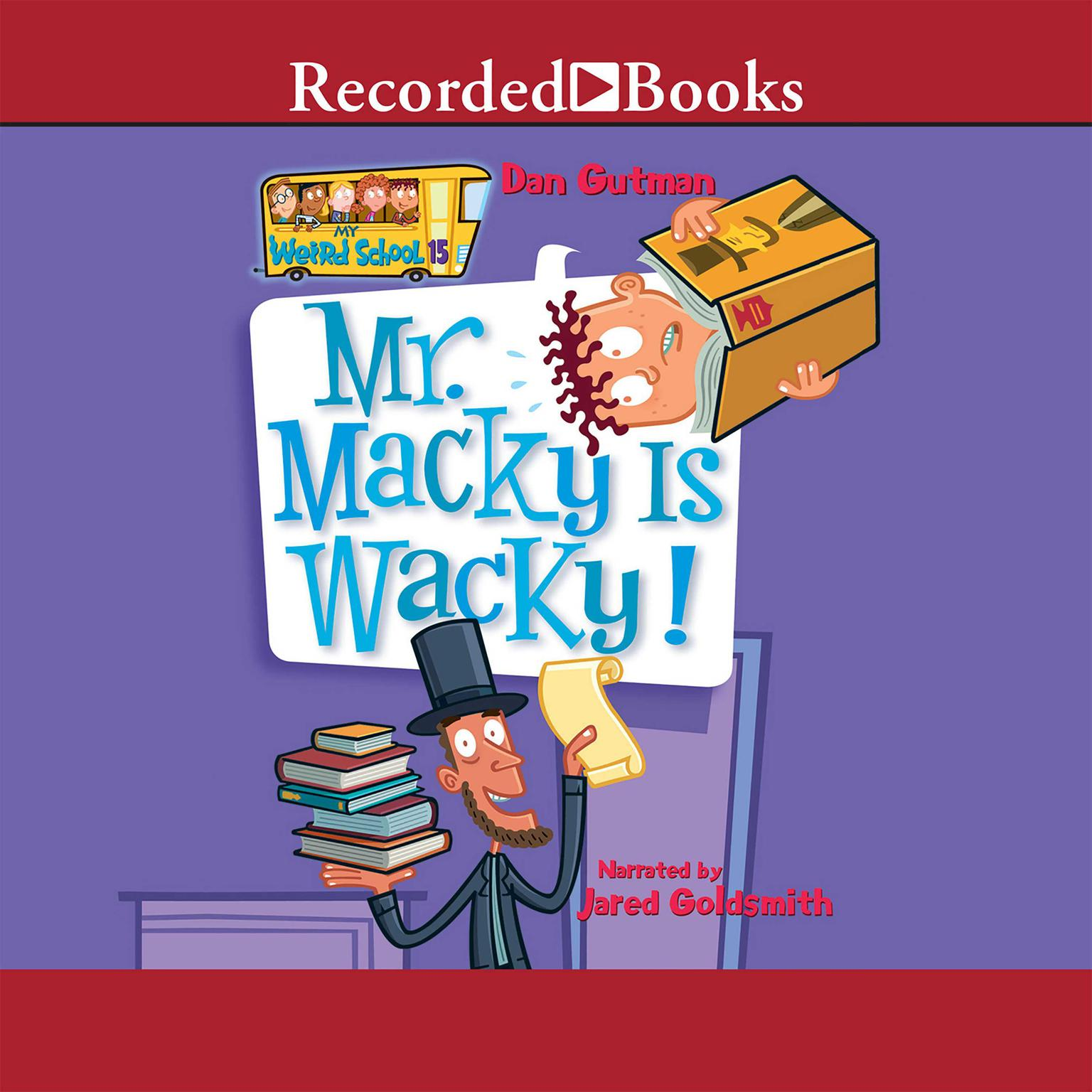 Printable Mr. Macky is Wacky Audiobook Cover Art