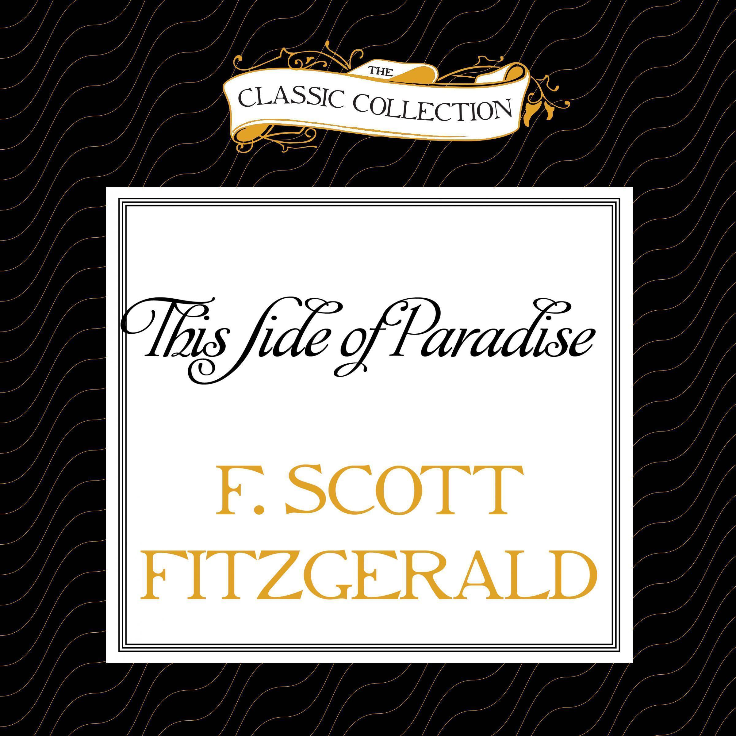 Printable This Side of Paradise Audiobook Cover Art