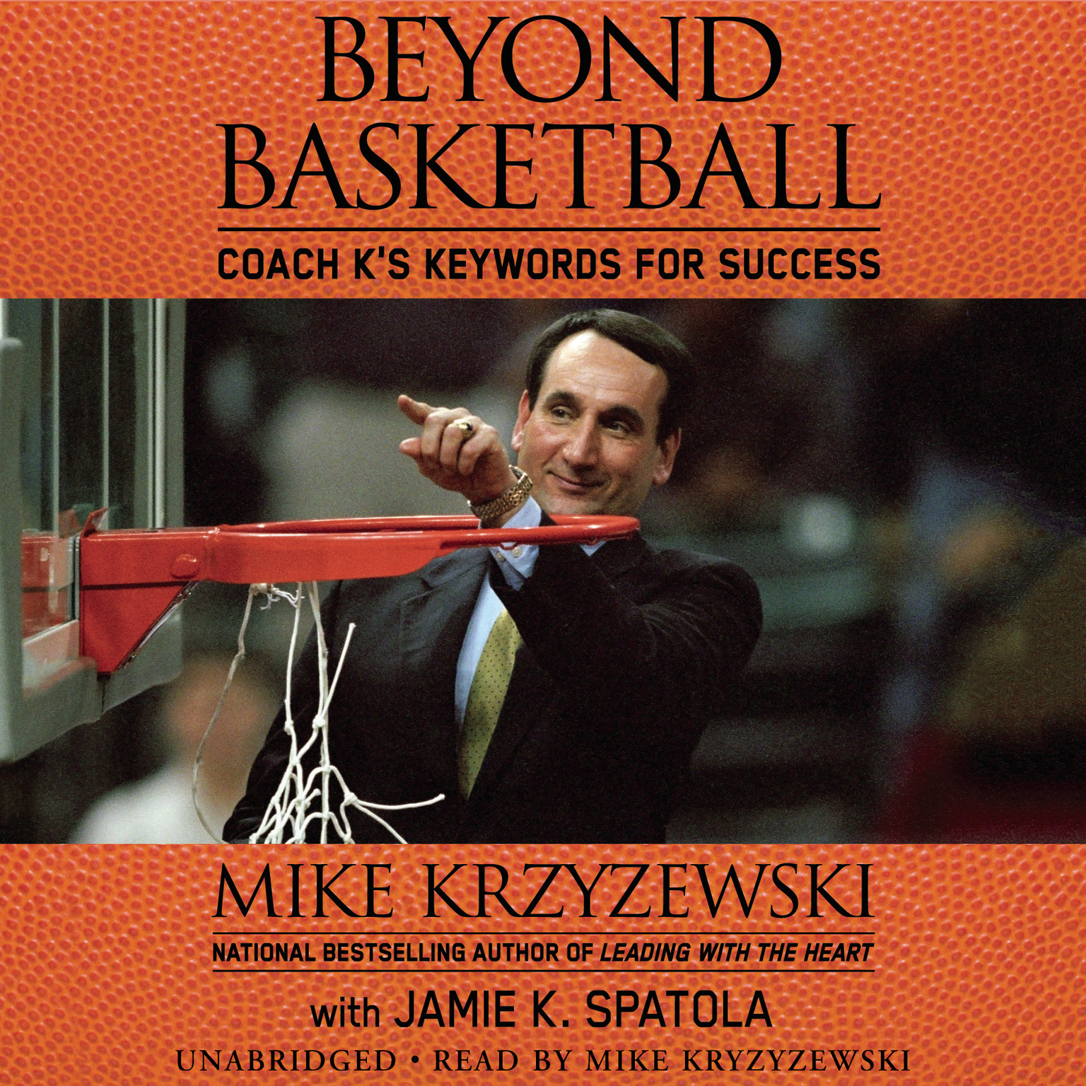 Printable Beyond Basketball: Coach K's Keywords for Success Audiobook Cover Art