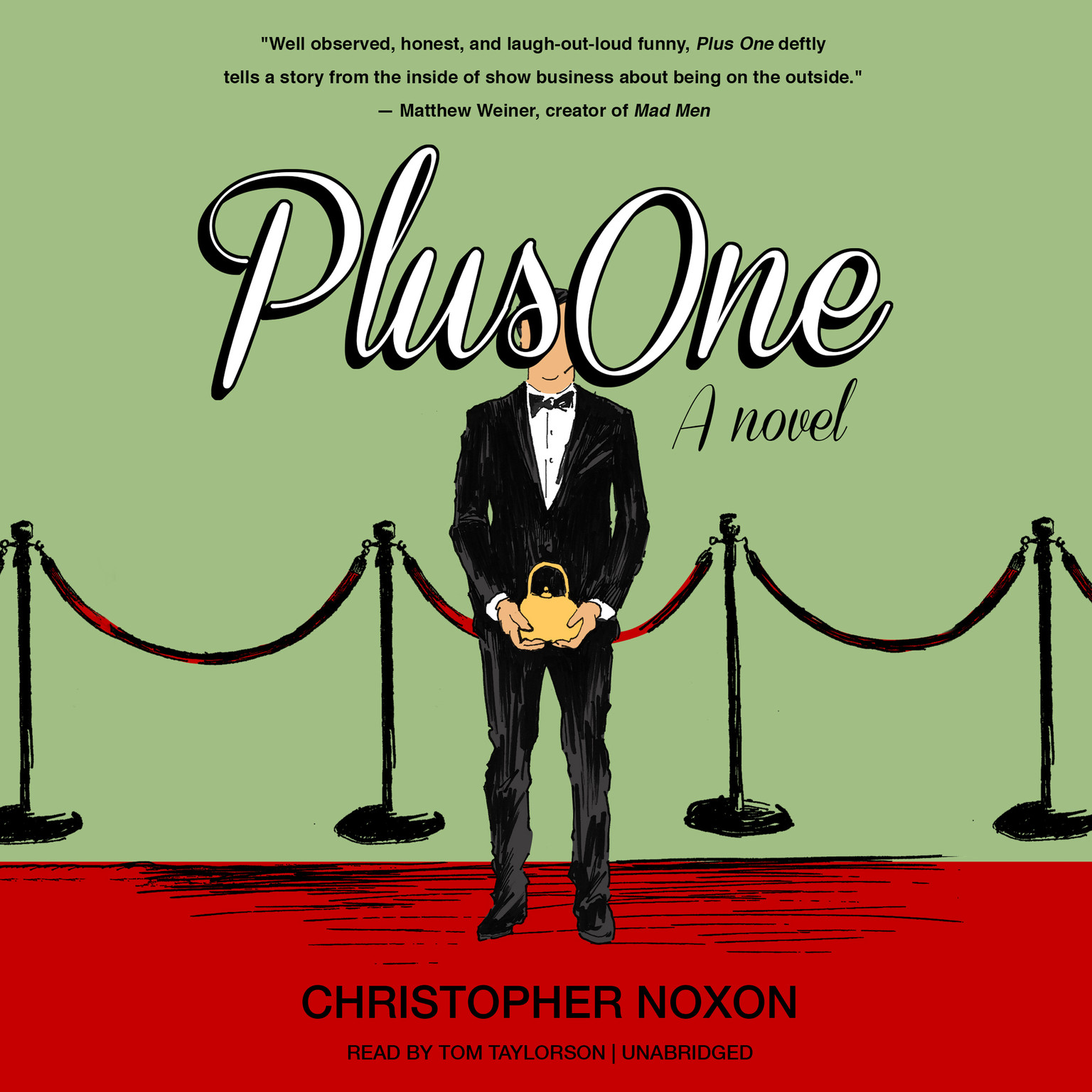 Printable Plus One: A Novel Audiobook Cover Art