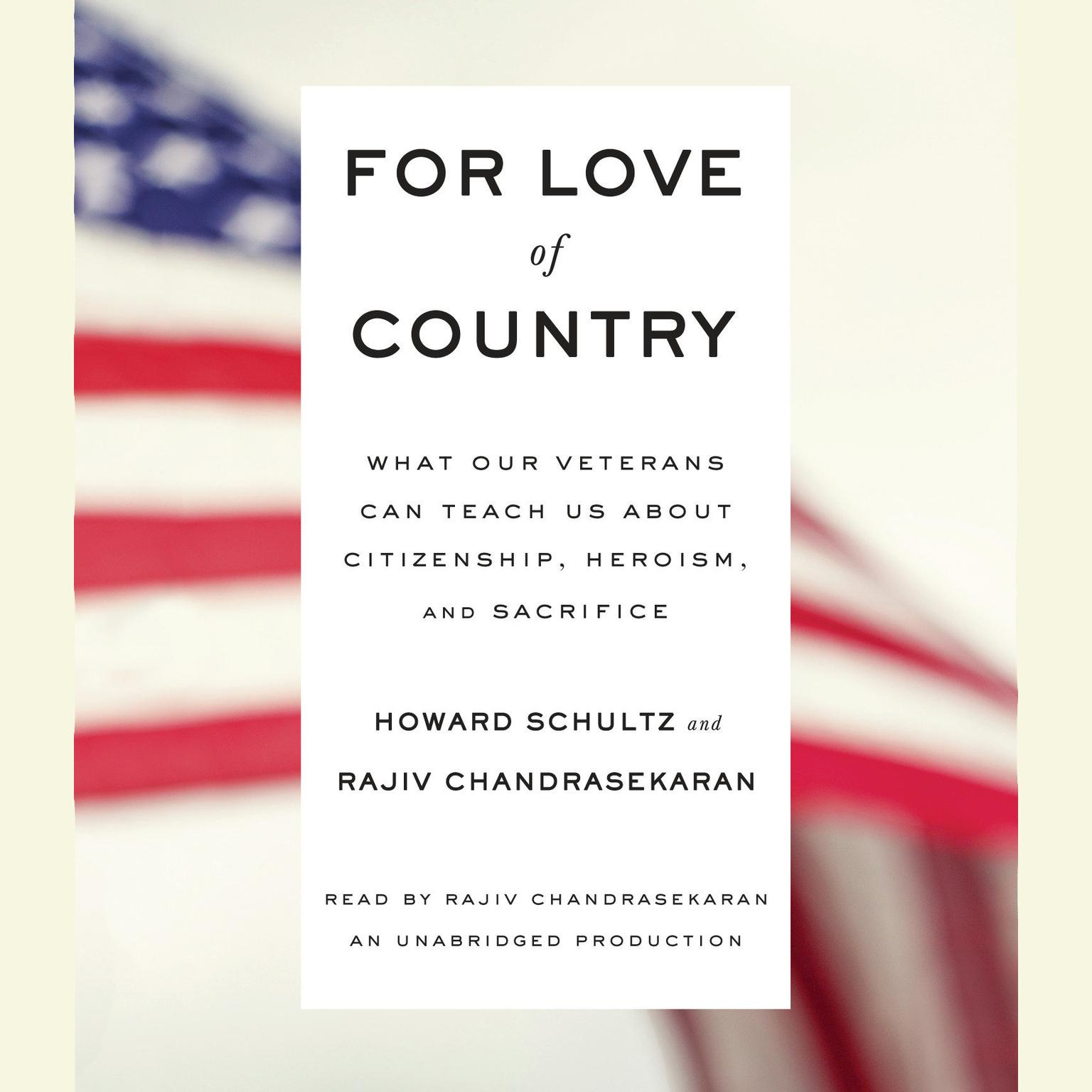 Printable For Love of Country: What Our Veterans Can Teach Us About Citizenship, Heroism, and Sacrifice Audiobook Cover Art