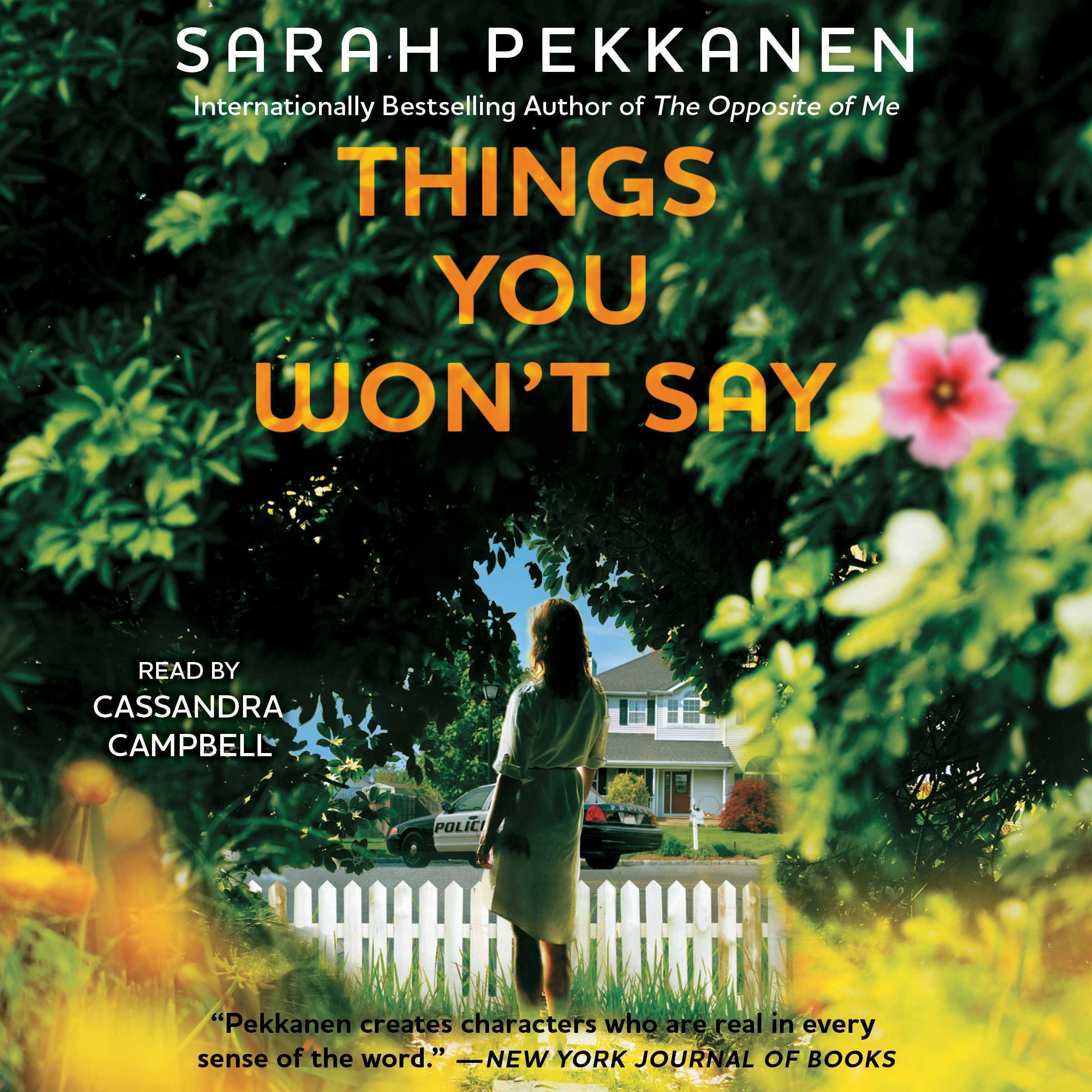 Printable Things You Won't Say: A Novel Audiobook Cover Art
