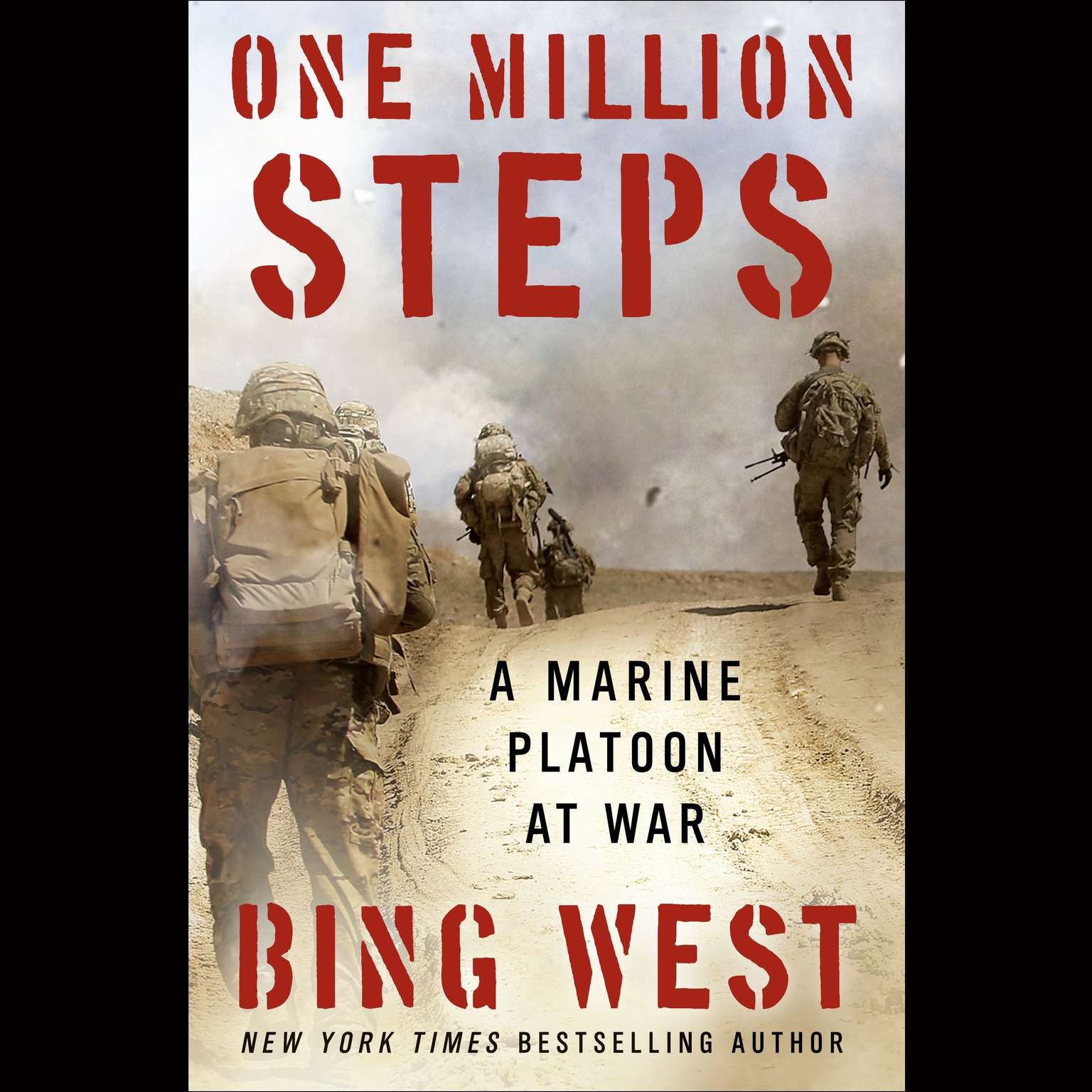 Printable One Million Steps: A Marine Platoon at War Audiobook Cover Art