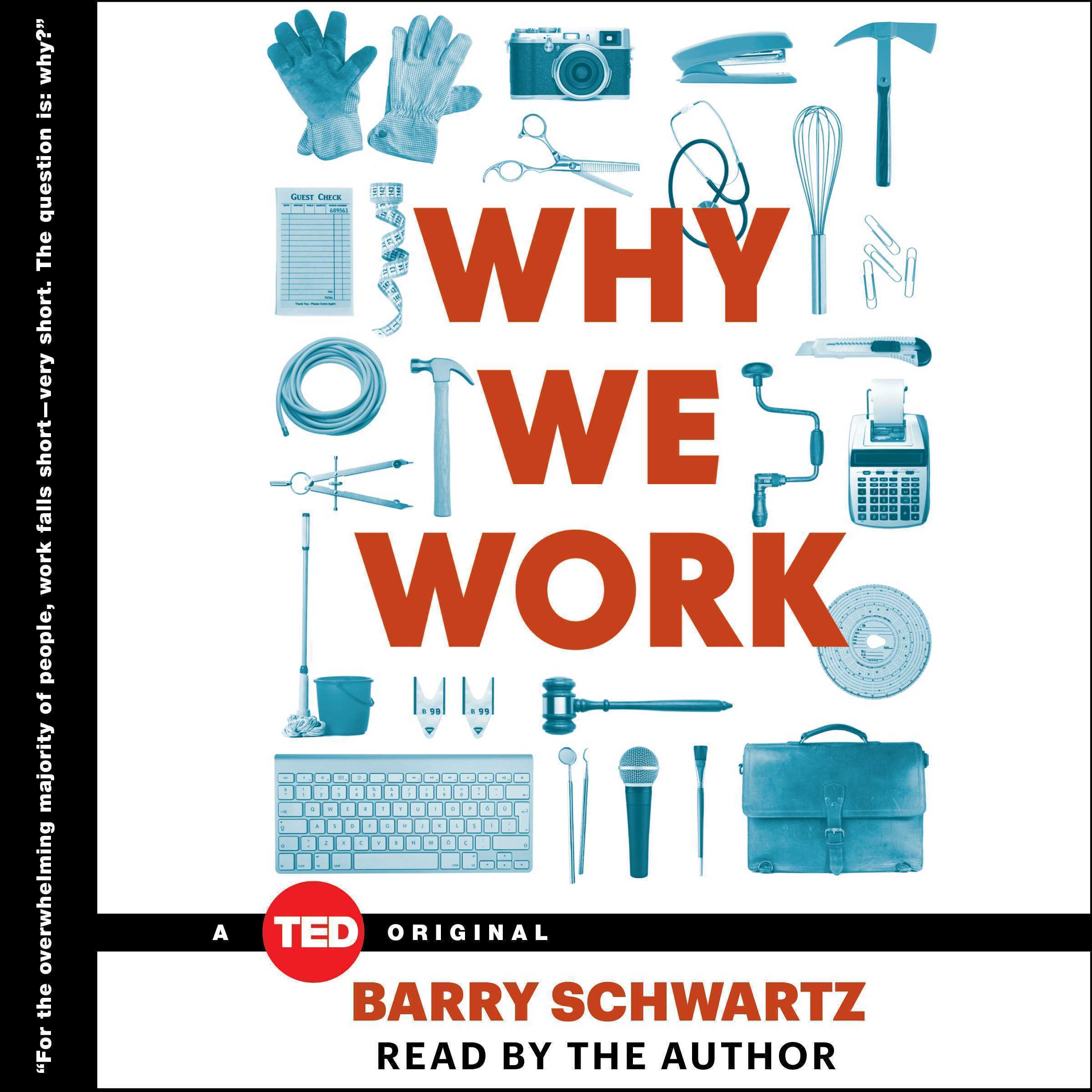 Printable Why We Work: A Ted Book Audiobook Cover Art