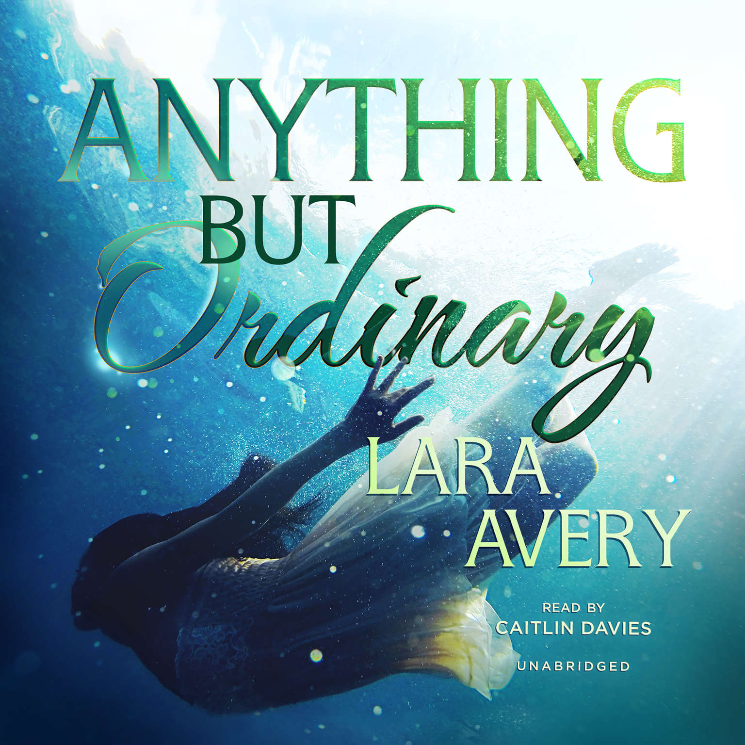 Printable Anything but Ordinary Audiobook Cover Art