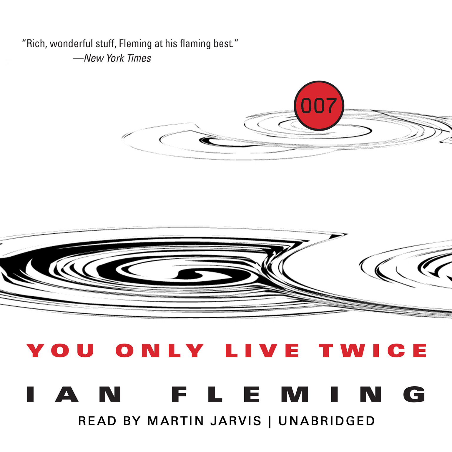 Printable You Only Live Twice Audiobook Cover Art