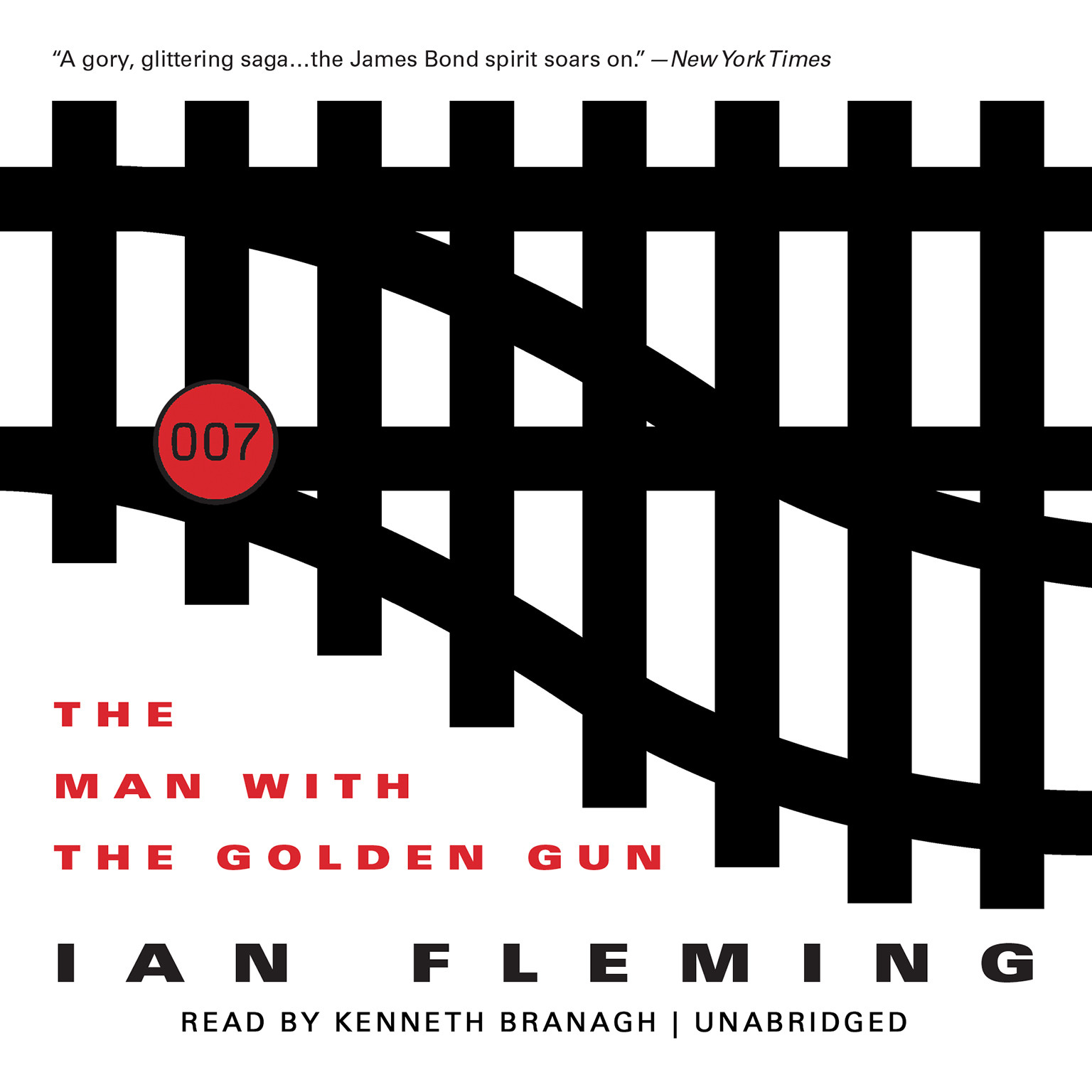 Printable The Man with the Golden Gun Audiobook Cover Art