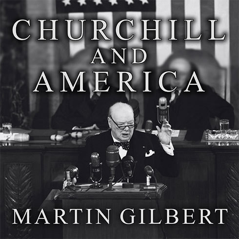 Printable Churchill and America Audiobook Cover Art