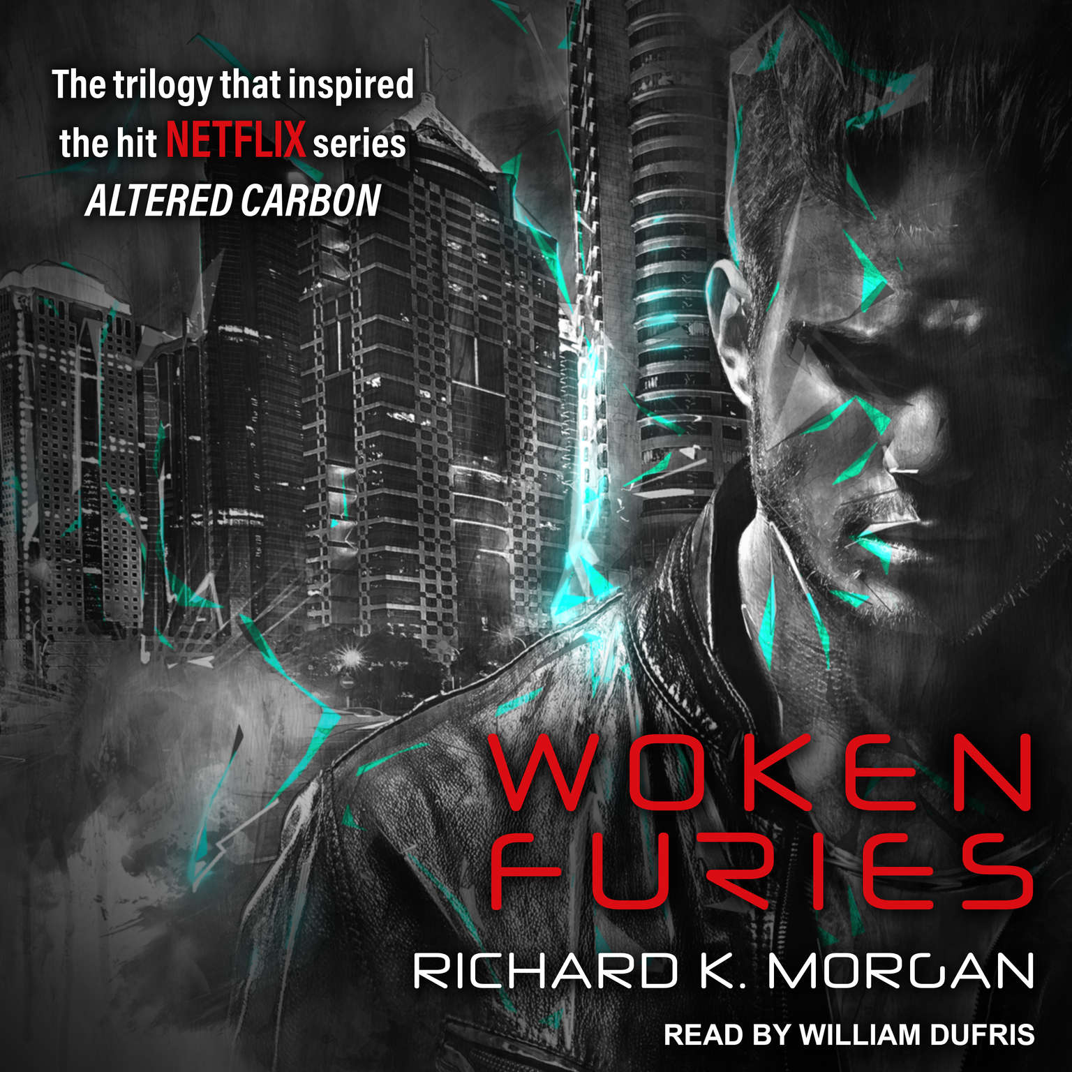 Printable Woken Furies: A Takeshi Kovacs Novel Audiobook Cover Art