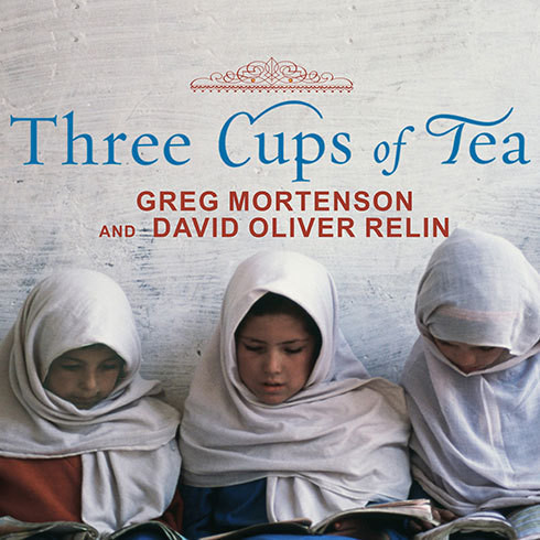 Printable Three Cups of Tea: One Man's Mission to Promote Peace . . . One School at a Time Audiobook Cover Art