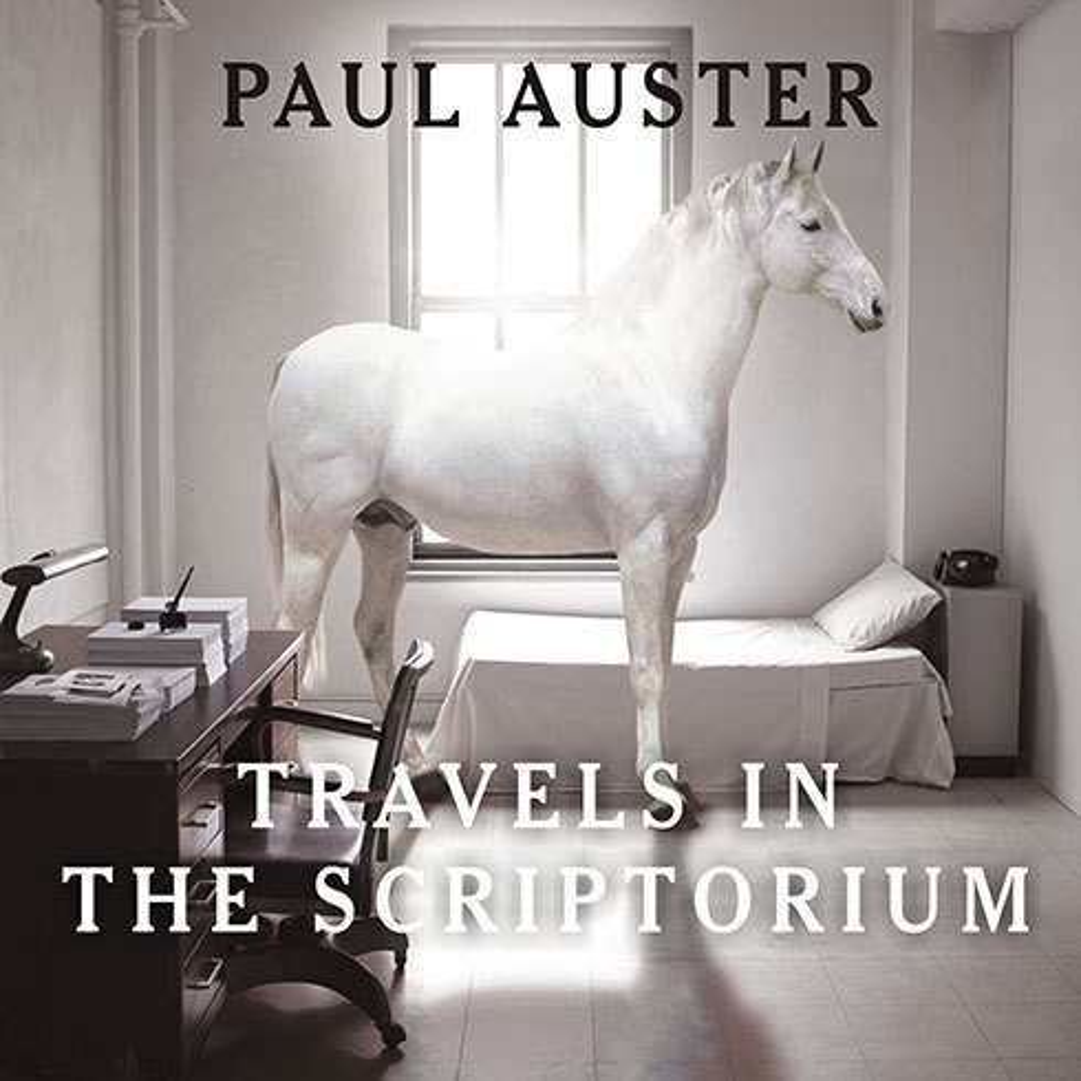 Printable Travels in the Scriptorium Audiobook Cover Art