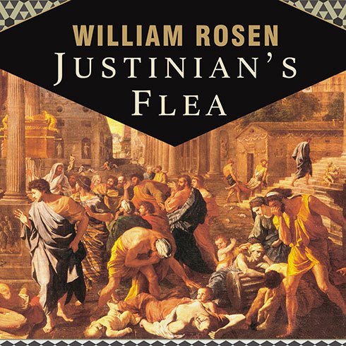 Printable Justinian's Flea: Plague, Empire, and the Birth of Europe Audiobook Cover Art
