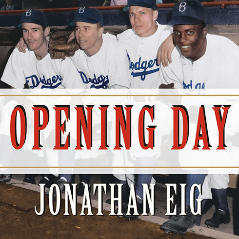 Printable Opening Day: The Story of Jackie Robinson's First Season Audiobook Cover Art