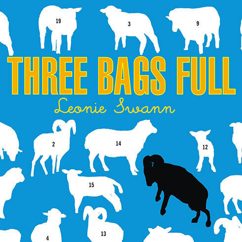 Printable Three Bags Full: A Sheep Detective Story Audiobook Cover Art