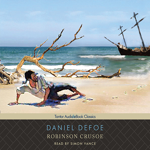 Printable Robinson Crusoe Audiobook Cover Art