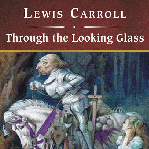 Printable Through the Looking Glass, with eBook Audiobook Cover Art