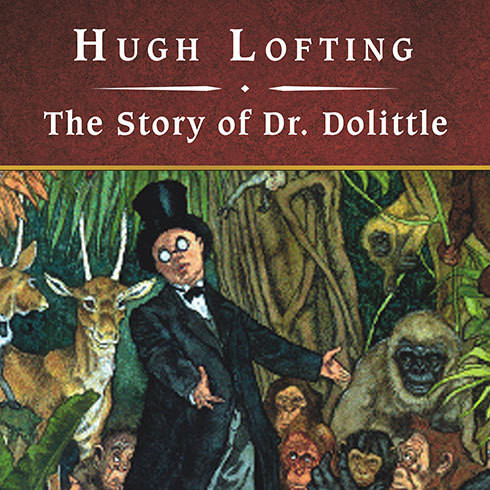 Printable The Story of Dr. Dolittle Audiobook Cover Art