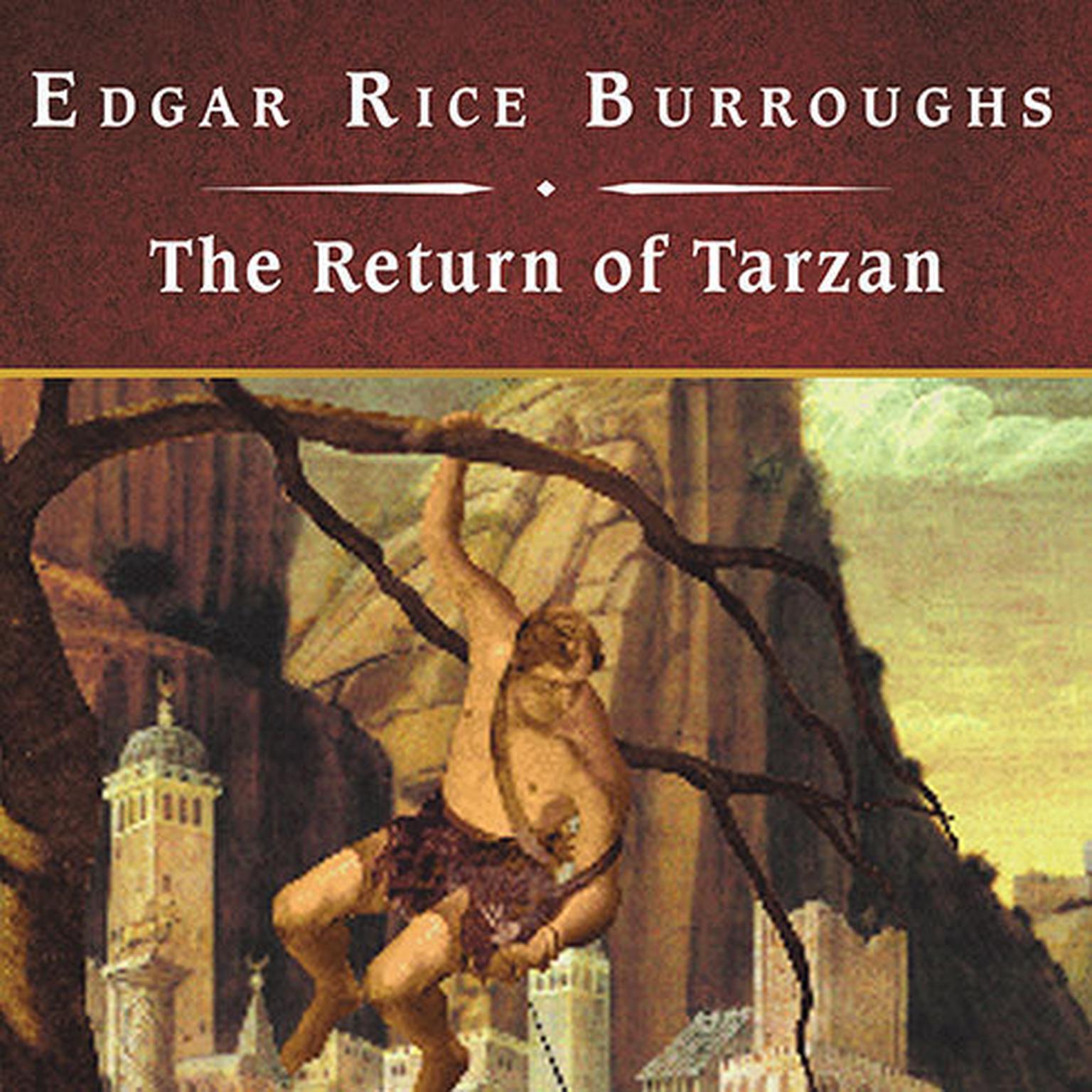 Printable The Return of Tarzan, with eBook Audiobook Cover Art