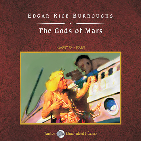 Printable The Gods of Mars Audiobook Cover Art