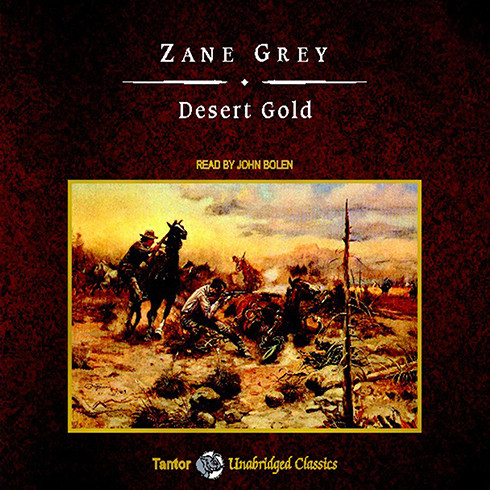 Printable Desert Gold Audiobook Cover Art