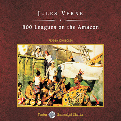 800 Leagues on the Amazon, with eBook Audiobook, by
