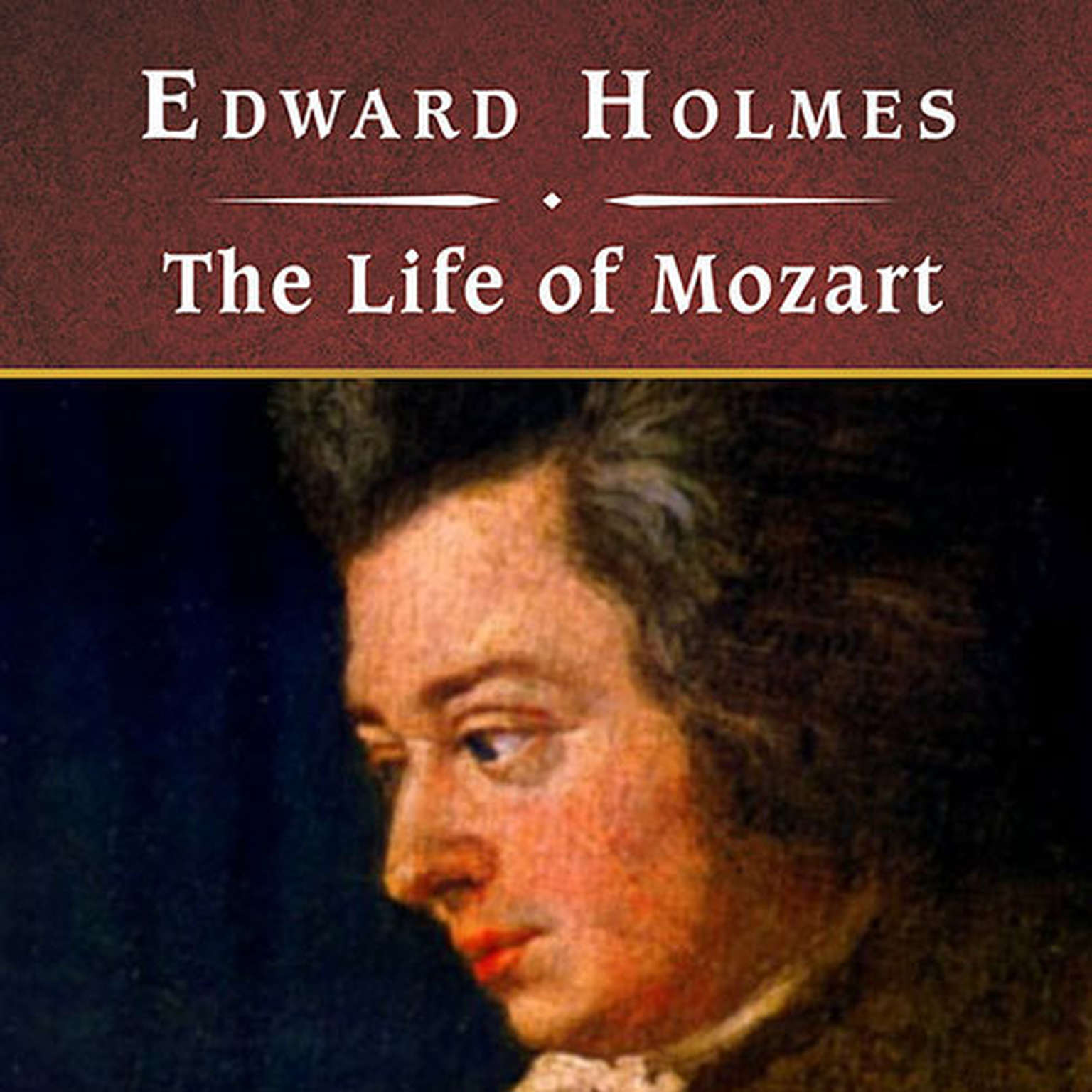 Printable The Life of Mozart, with eBook Audiobook Cover Art