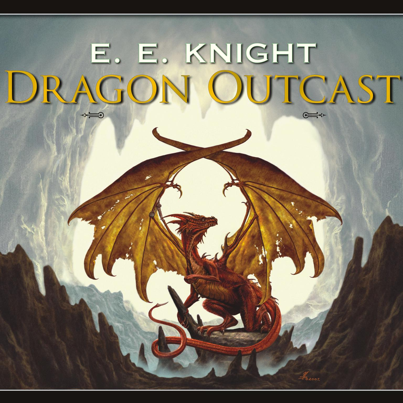 Printable Dragon Outcast Audiobook Cover Art