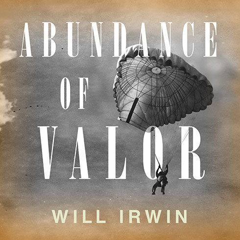 Printable Abundance of Valor: Resistance, Survival, and Liberation: 1944-45 Audiobook Cover Art