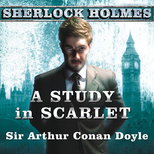 Printable A Study in Scarlet: A Sherlock Holmes Novel Audiobook Cover Art
