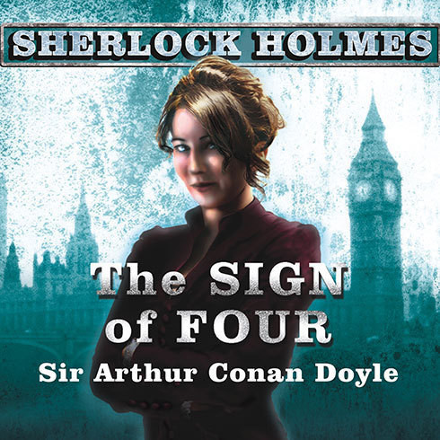 Printable The Sign of Four: A Sherlock Holmes Novel Audiobook Cover Art