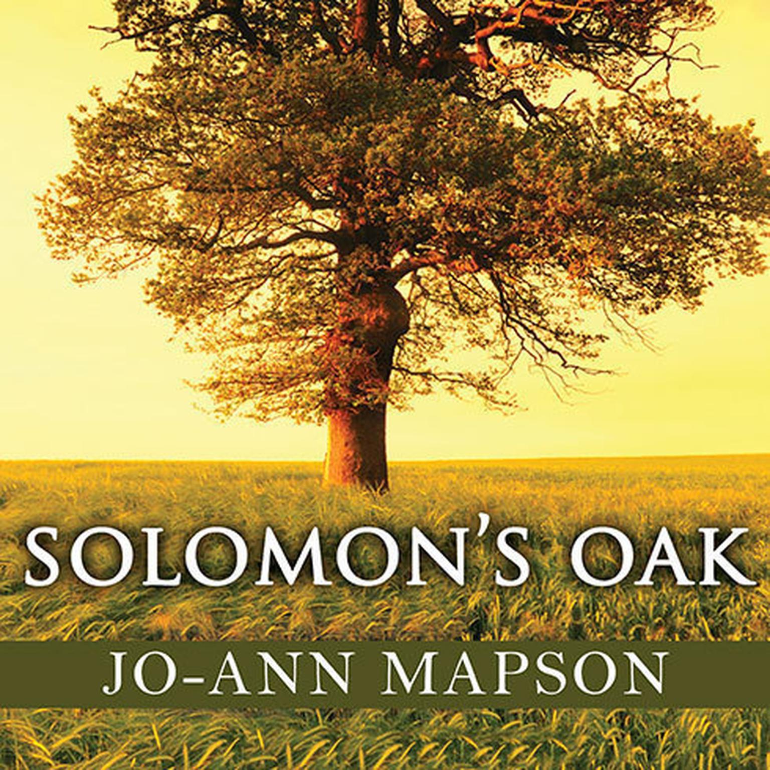 Printable Solomon's Oak: A Novel Audiobook Cover Art