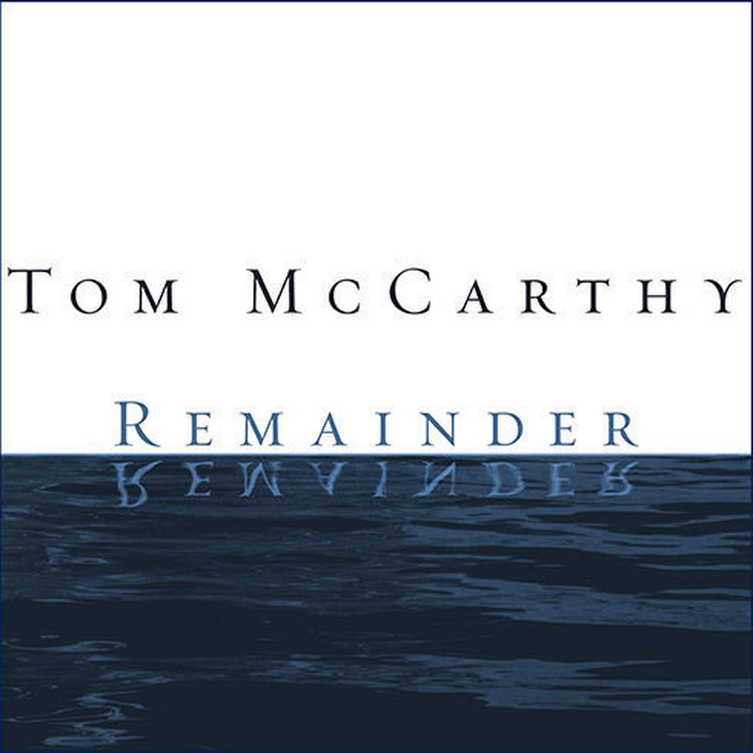 Printable Remainder: A Novel Audiobook Cover Art