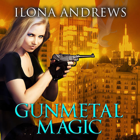 Printable Gunmetal Magic Audiobook Cover Art